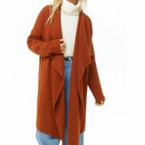 Longline Drape Front Cardigan